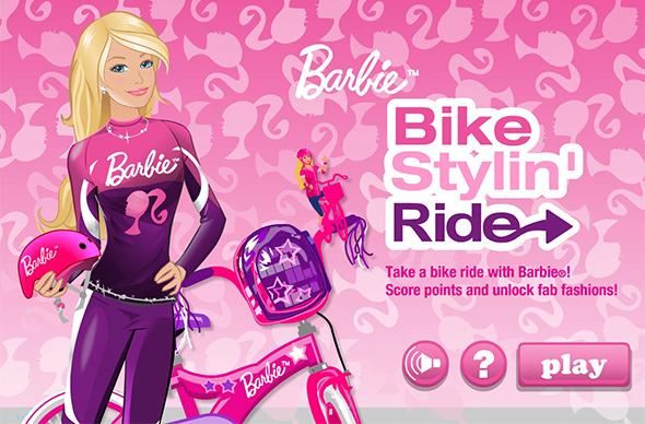 barbie bike stylin ride game