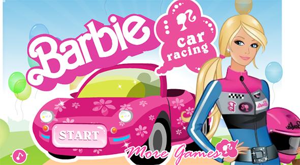 barbie goes car racing game