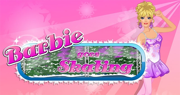 barbie ice skating game
