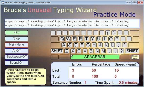 bruces unusual typing wizard software
