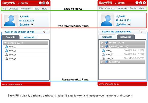comodo easyvpn software