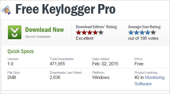 free keylogger pro1