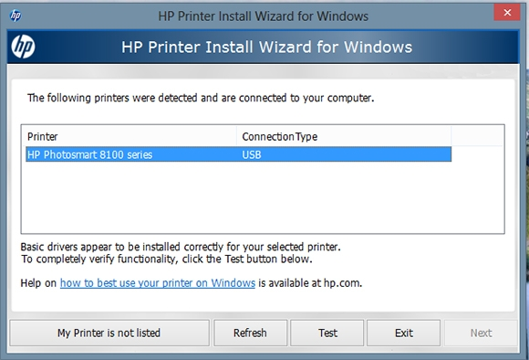 hp printer install wizard for windows 7 software