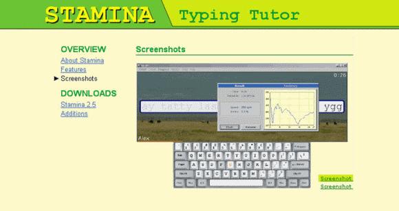 stamina typing tutor software