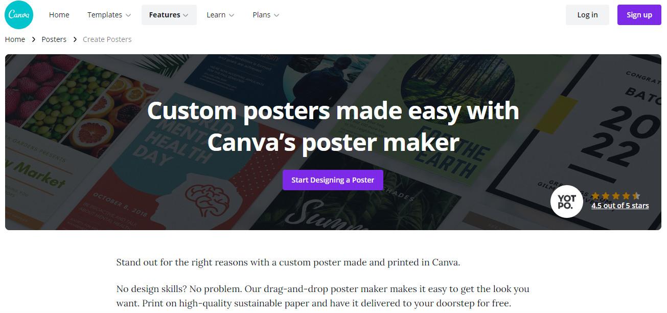 canvas poster maker