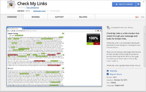 check my links