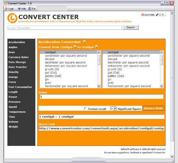 convert center 1