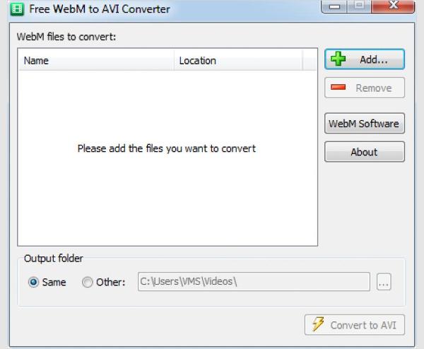 free webm to avi converter 1