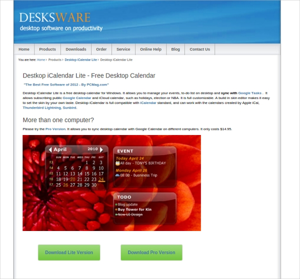 desktopicalendar