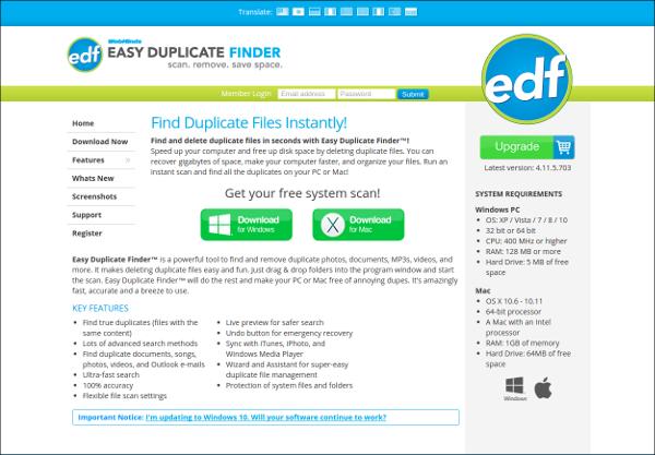 easy duplicate finder