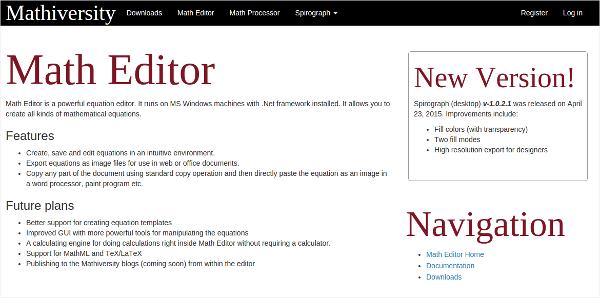 math editor