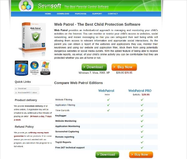 sevnsoft web patrol free