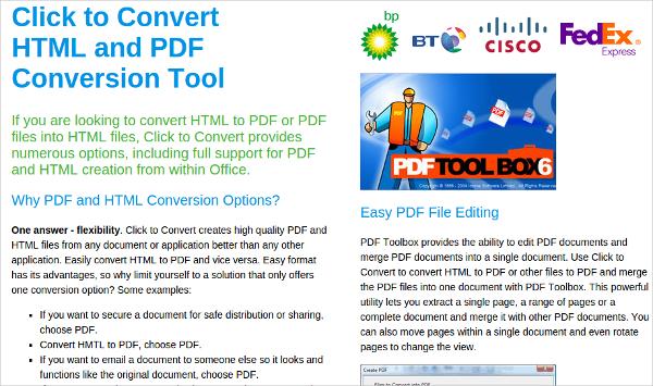 click to convert