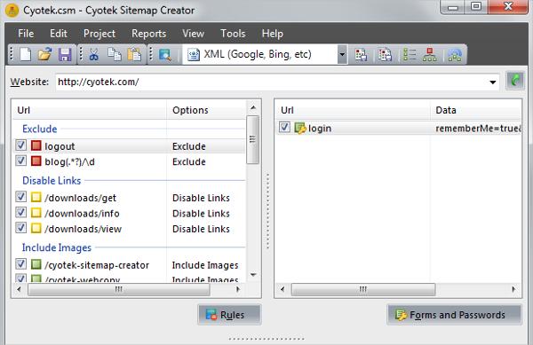 cyotek sitemap creator