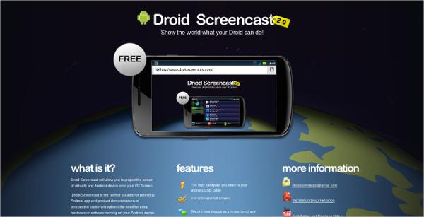 droid screencast
