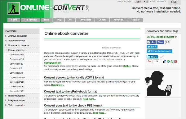 ebook online convert