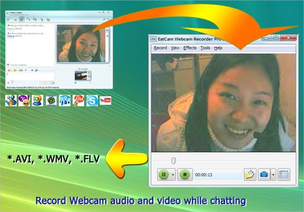 eatcam webcam recorder – record videos in different formats