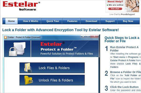 estelar protect a folder