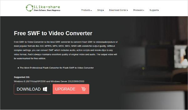 free swf video converter