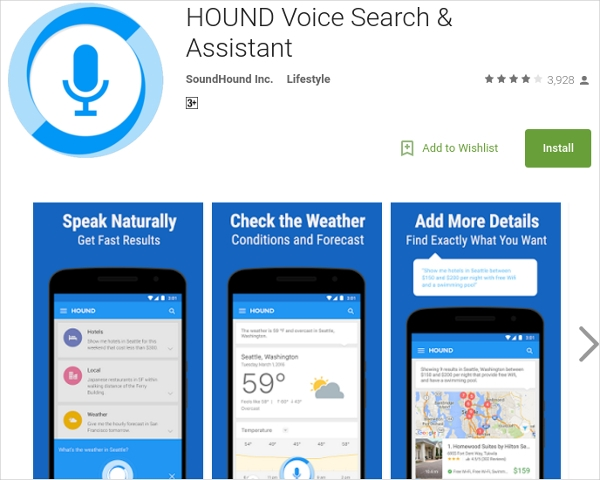 hound voice search assistant