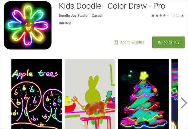 kids doodle color draw pro
