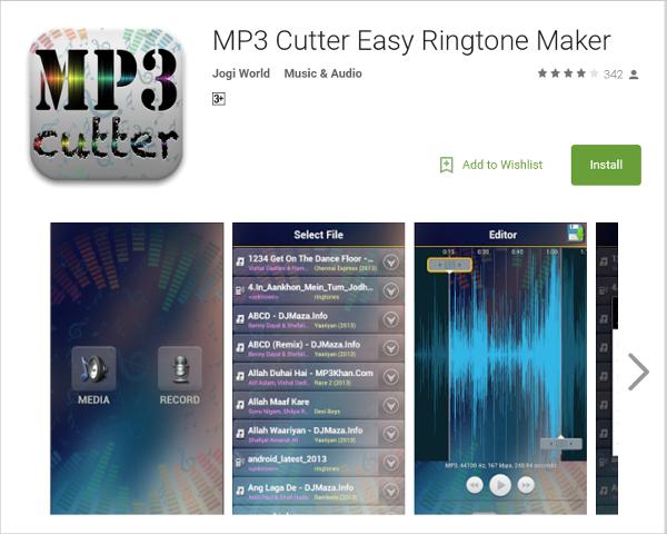 mp3 cutter easy ringtone maker