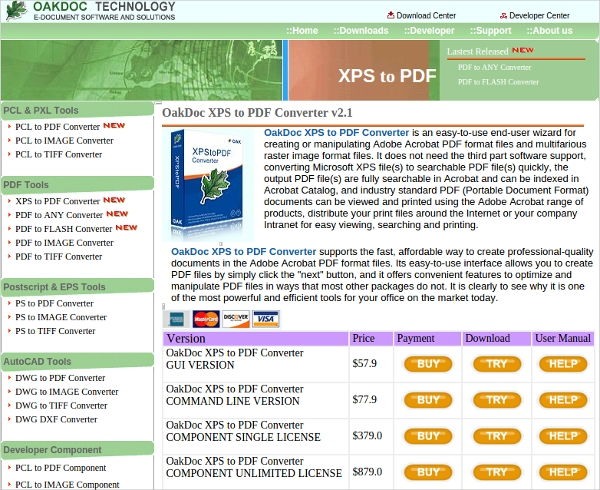 oakdoc xps to pdf converter v2