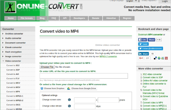 online convert video to mp4