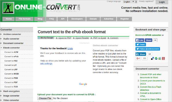 pdf to epub convertor