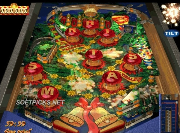 pinball christmas tree