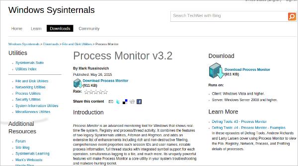 process monitor v3