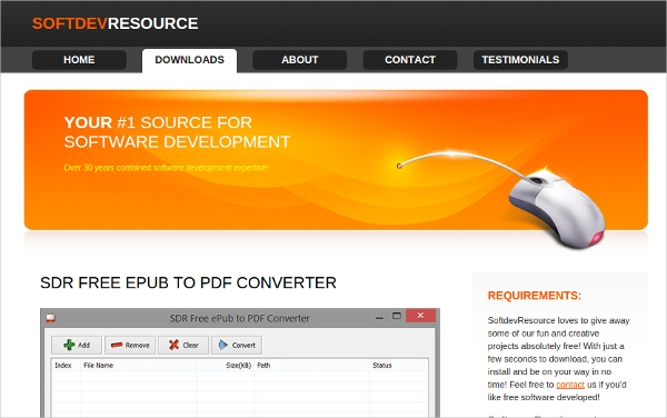 sdr epub to pdf converter