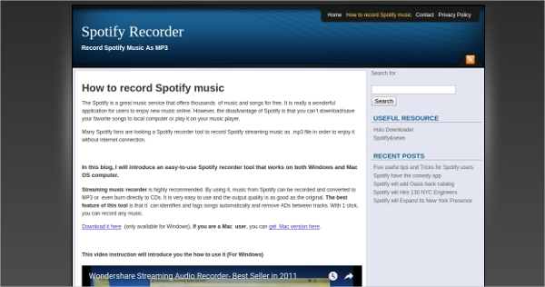 spotify recorder tool