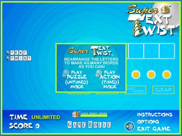 super text twist – brain game