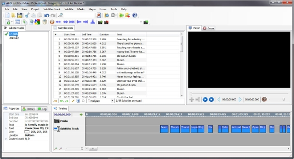 the ahd subtitle maker software