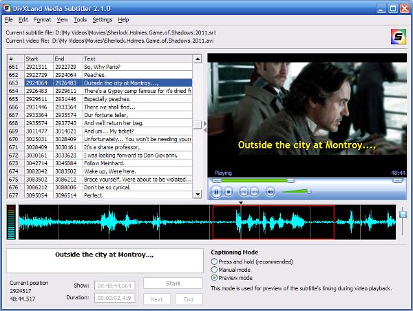 the divxland media subtitler