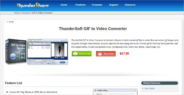 thundershare gif to video converter