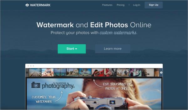 water mark image