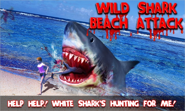 wild shark beach attack