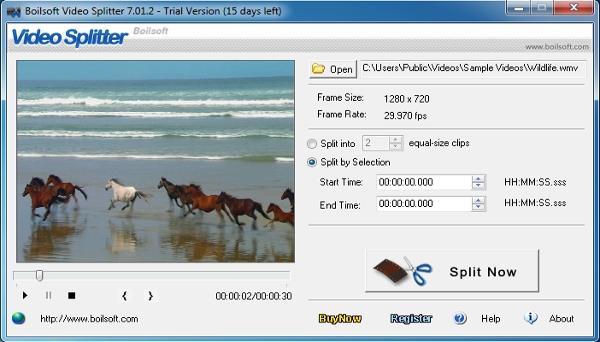 bolisoft video splitter