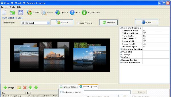 3d flash slideshow creator