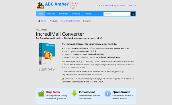 abc amber incredimail converter