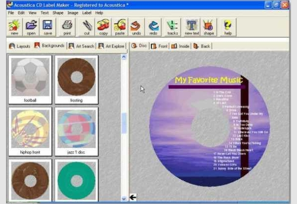acoustica label maker software