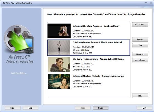 all free 3gp video converter