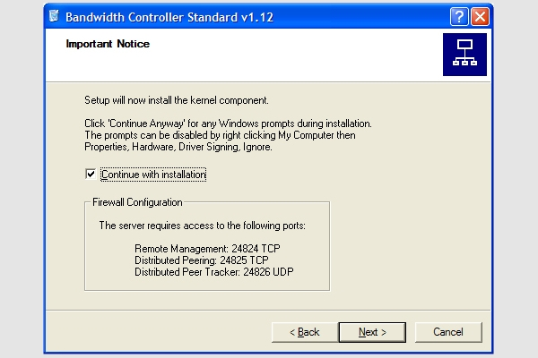 band width controller