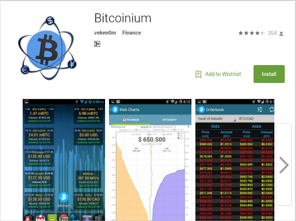 bitcoinium – alarm feature for currency notification