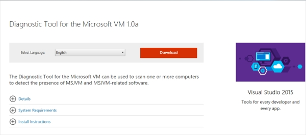 diagnostic tool for the microsoft vm