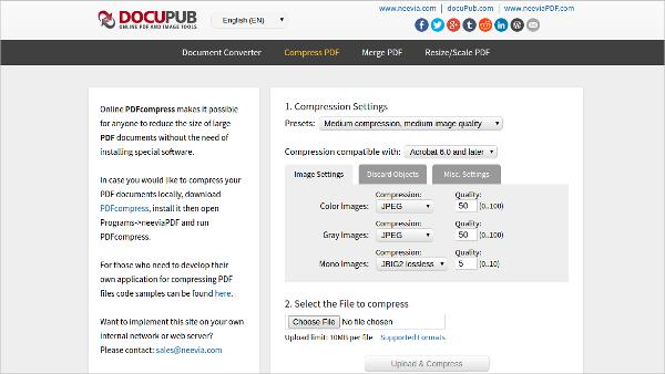 docupub online pdfcompress