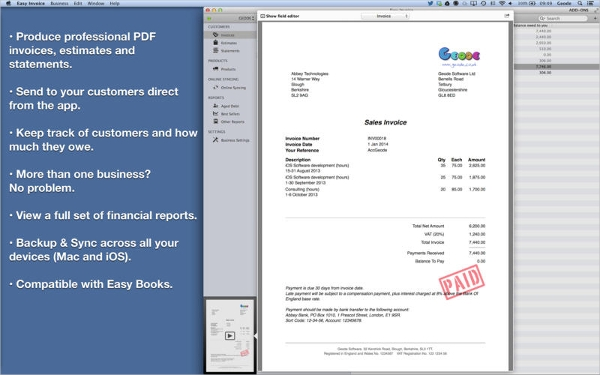 Best Invoice Maker Software For MAC U2013 Easy Invoice  Invoice Generating Software
