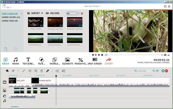 filmora video editor 1